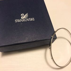 Swarovski silver bangle bracelet